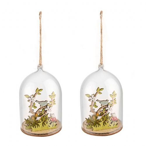 Spring and Easter Hanging Glass Dome Decorations